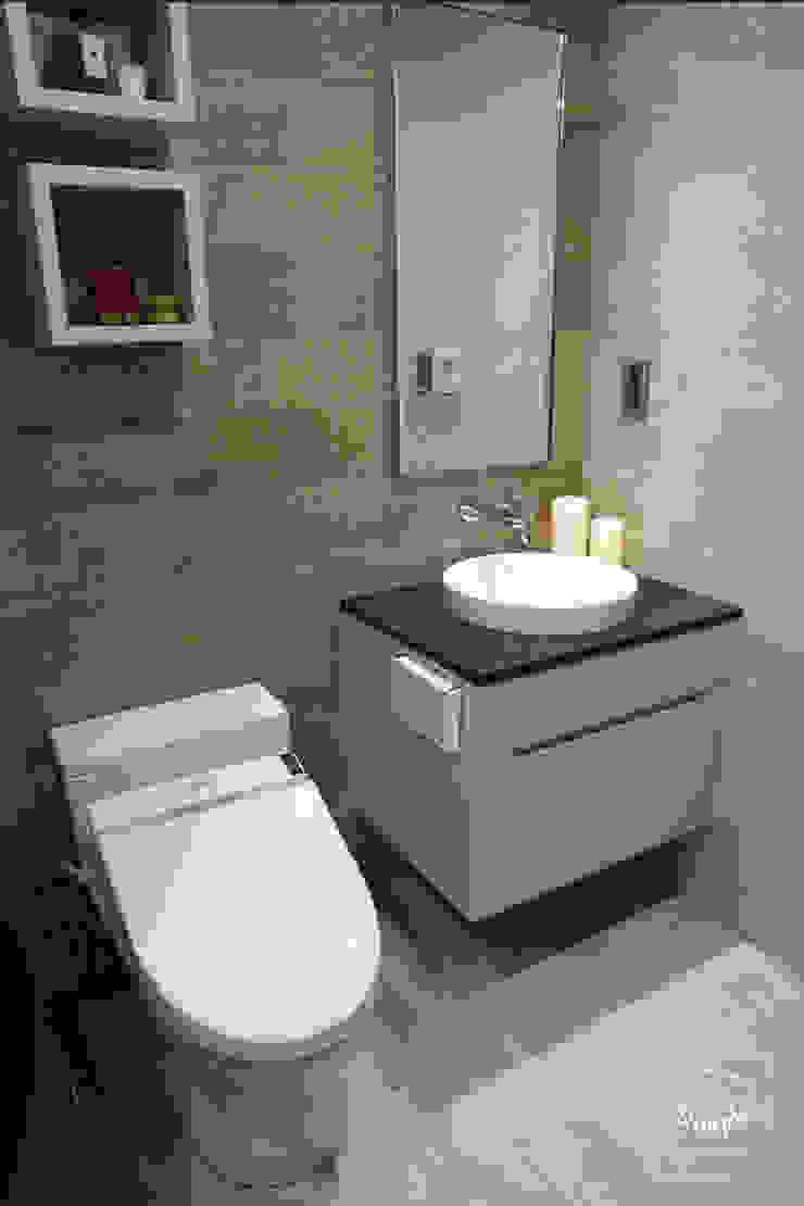 清晨的萊特-老屋翻新變身現代簡約居所 現代浴室設計點子、靈感&圖片 根據 酒窩設計 Dimple Interior Design 現代風 磁磚