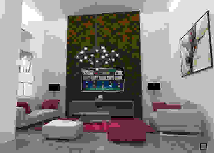 vista sala Salones de estilo moderno de Osuna Arquitecto Moderno