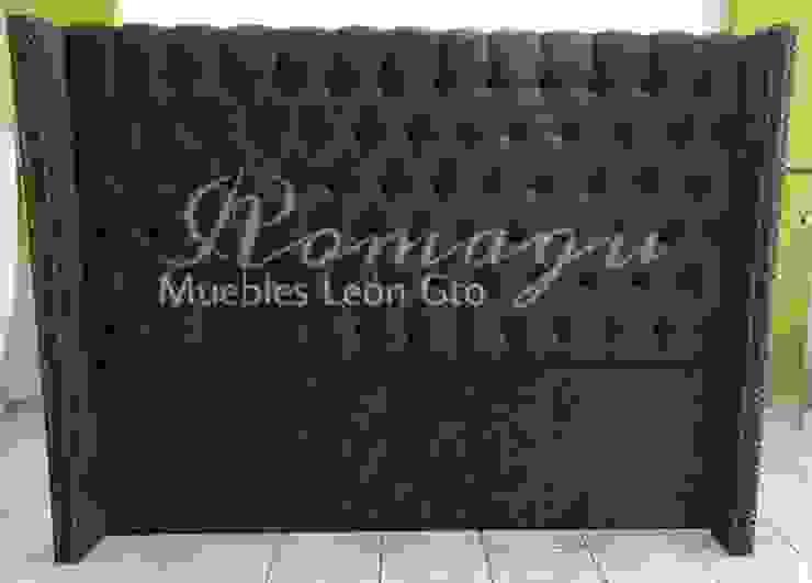 CABECERA KING SIZE MOD. ITZEL de ROMAGU MUEBLES Clásico Textil Ámbar/Dorado