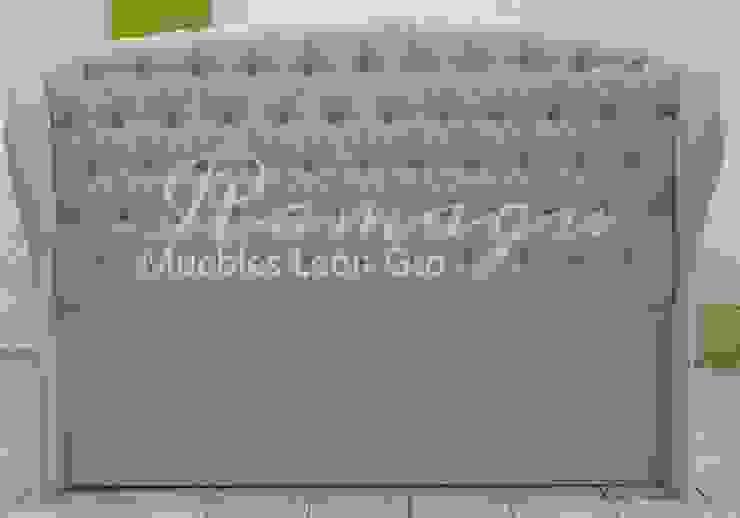 CABECERA ROMANISH BOTON DE CRISTAL de ROMAGU MUEBLES Clásico Textil Ámbar/Dorado