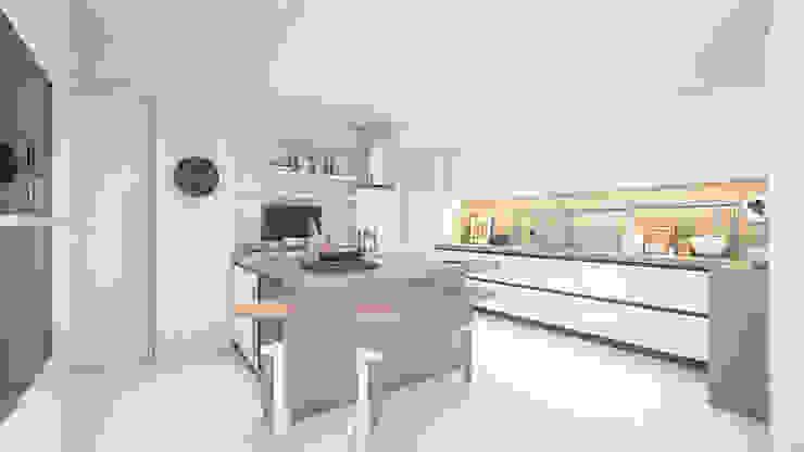 Apartamento Paço de Arcos Cozinhas modernas por DV Arquitecto Moderno