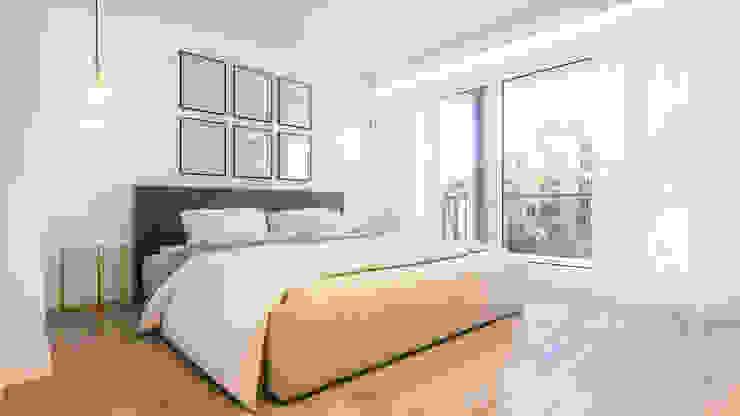 Apartamento Paço de Arcos: Quartos  por DV Arquitecto,Moderno