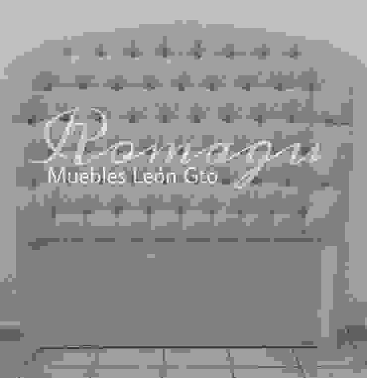 CABECERA MATRIMONIAL MOD. RENATA de ROMAGU MUEBLES Clásico Textil Ámbar/Dorado