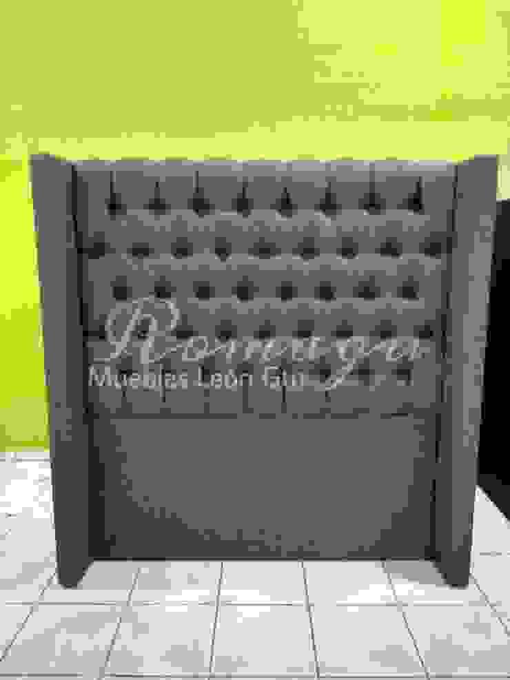 CABECERA MATRIMONIAL MOD. ITZEL de ROMAGU MUEBLES Clásico Textil Ámbar/Dorado
