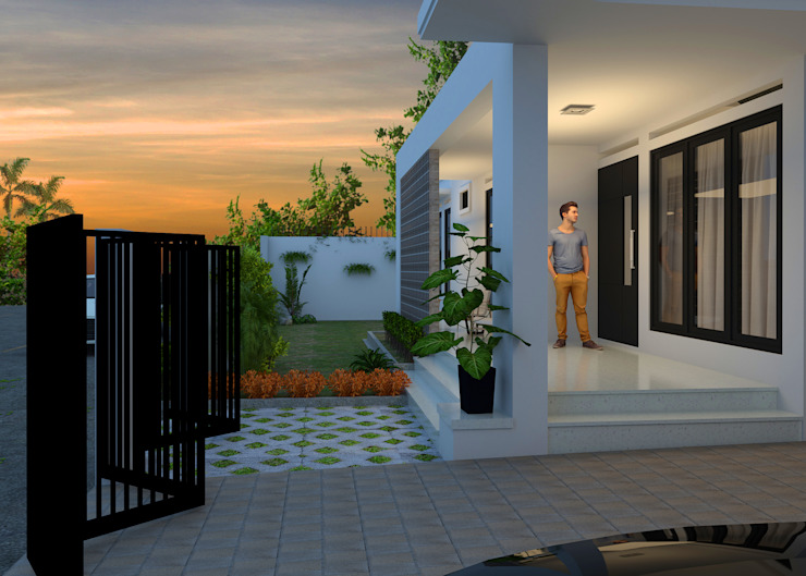 Modern Terrace by BALCON ARCHITECTS Modern