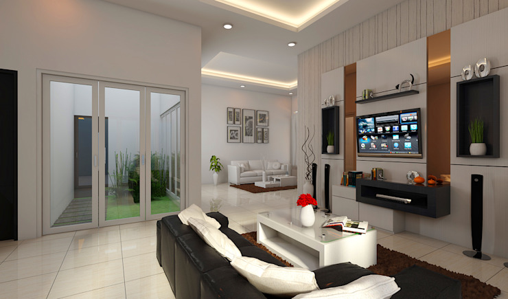 Modern Living Room by BALCON ARCHITECTS Modern