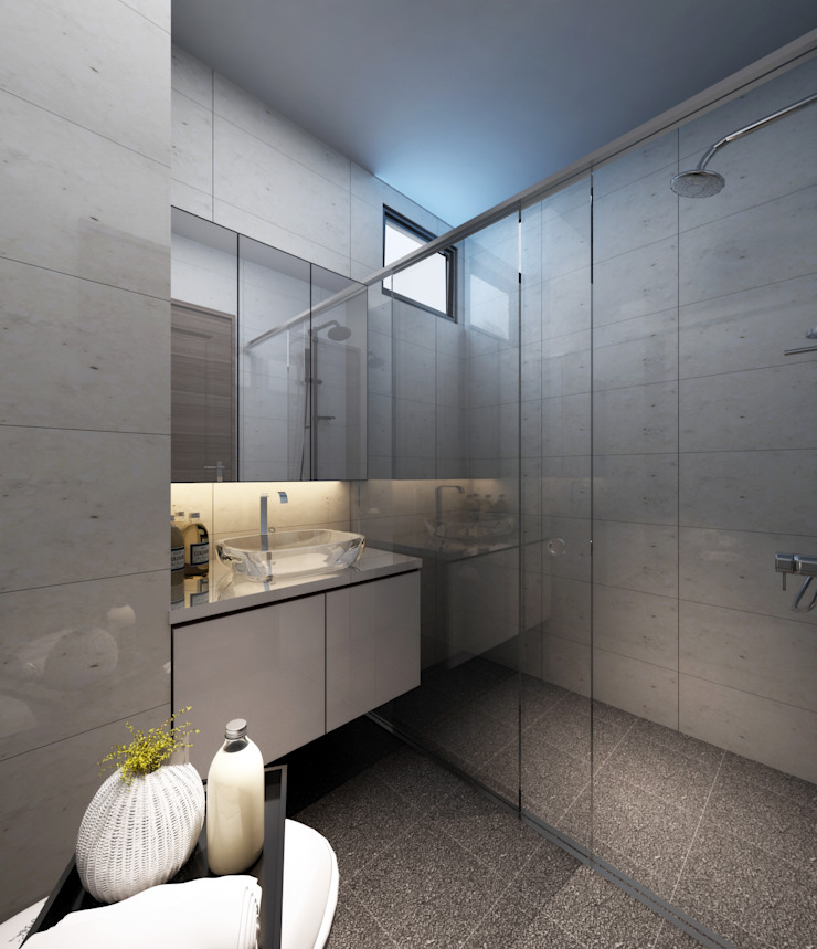 Simple White Space Modern Bathroom by March Atelier Modern