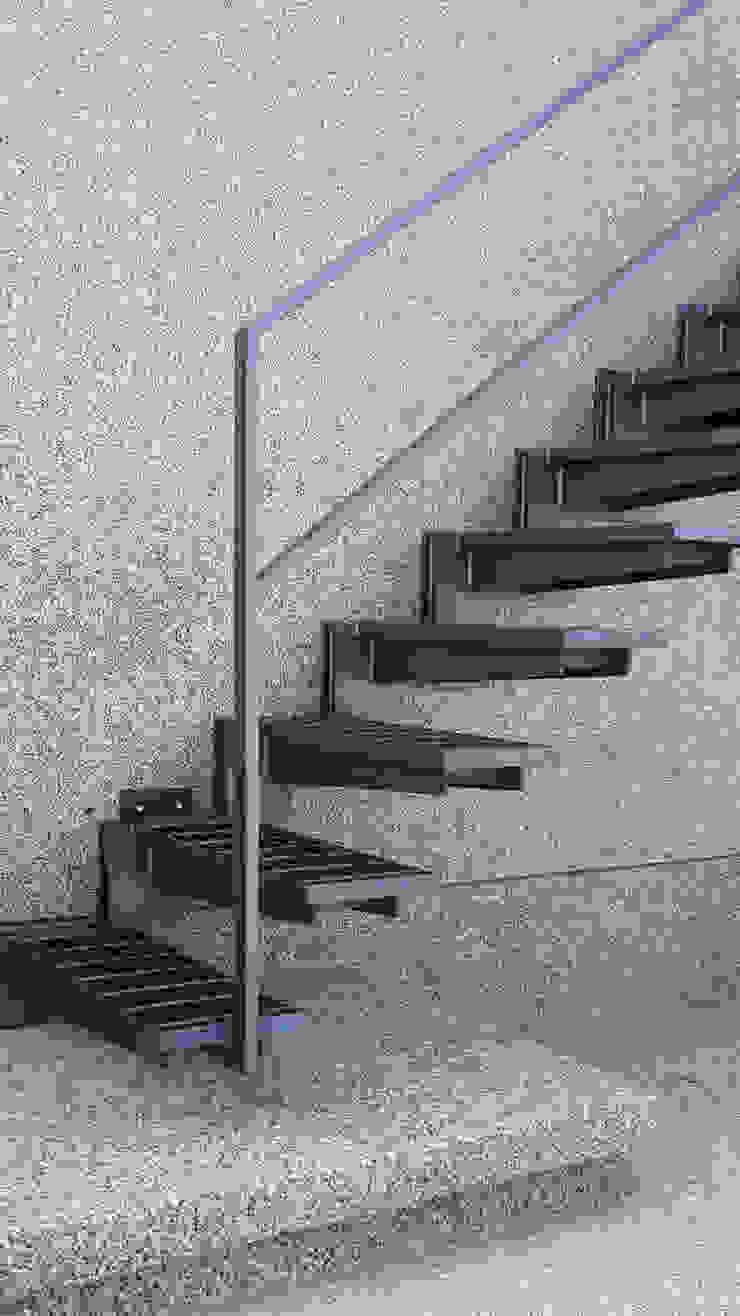 戶外懸臂鋼梯 根據 黃耀德建築師事務所 Adermark Design Studio 簡約風