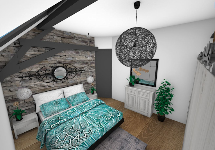 Chambre Chambre moderne par Crhome Design Moderne