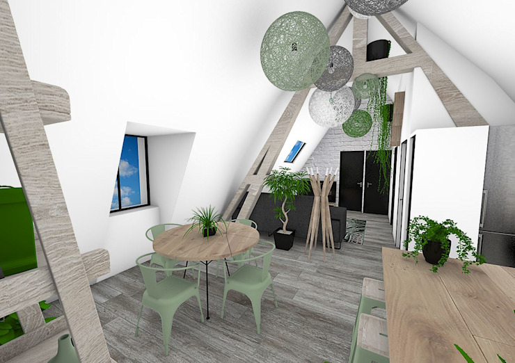 Salle à manger Salle à manger moderne par Crhome Design Moderne