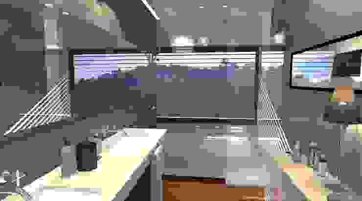 Uma casa de banho de sono Casas de banho modernas por perez ipar arquitectura e decoração Moderno