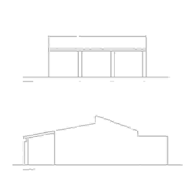 Planos de proyecto - alzados Francisco Pomares Arquitecto / Architect Casas de estilo rural