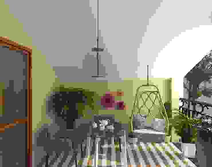 Diseño 3d Glancing EYE - Asesoramiento y decoración en diseños 3D Balcones y terrazas de estilo moderno