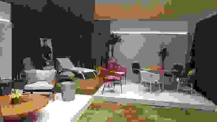 MONTAUDON INTERIORISMO Moderne Ladenflächen Holz Weiß