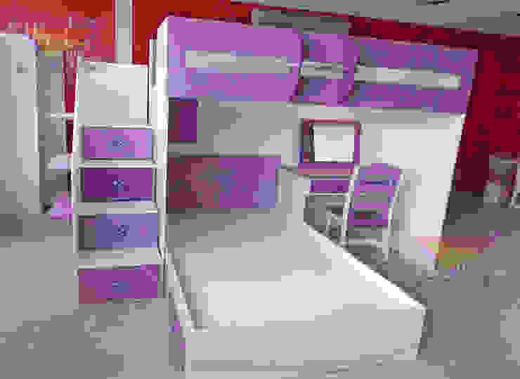 Practica y hermosa litera juvenil de camas y literas infantiles kids world Moderno Derivados de madera Transparente