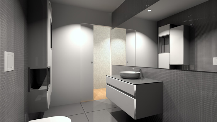 Modern bathroom by QOTDA Design Modern