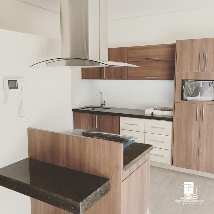 JMB Arquitectos Modern Kitchen