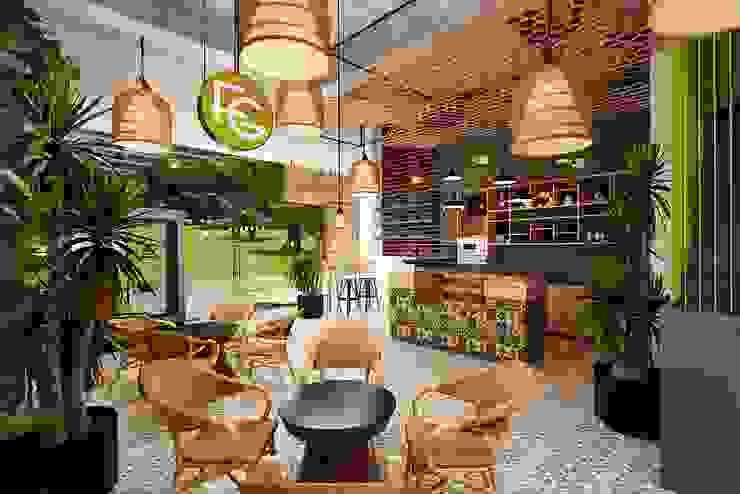 Interior Design Coffee Tropical Vinhome Central Park: hiện đại  by Thiết kế nội thất căn hộ An Phú Decor, Hiện đại