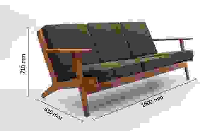 Ghế sofa chân gỗ hiện đại AP1-010 giá 10tr: hiện đại  by Thiết kế nội thất căn hộ An Phú Decor, Hiện đại
