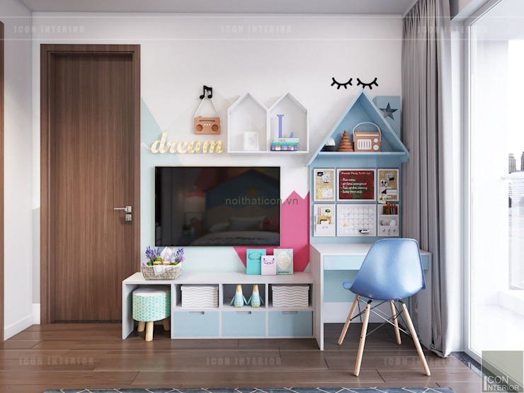 THIẾT KẾ BIỆT THỰ PALM CITY - Nét đẹp giao hòa trong không gian sống hiện đại Phòng trẻ em phong cách hiện đại bởi ICON INTERIOR Hiện đại