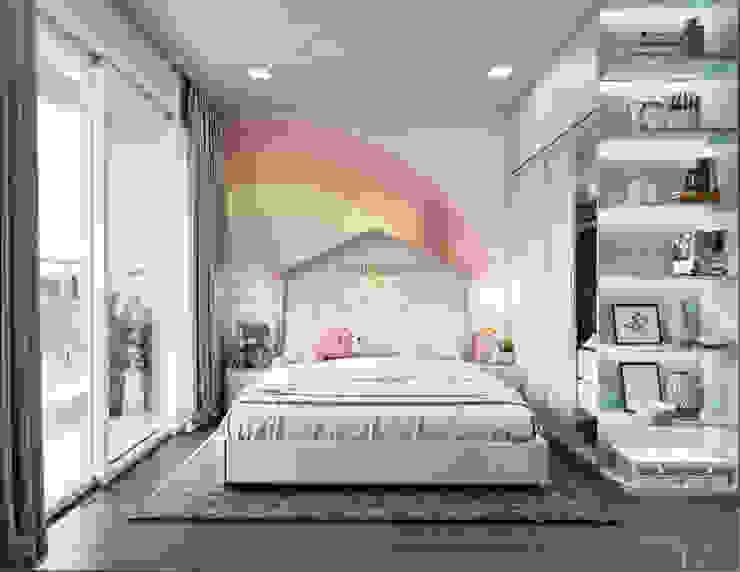 THIẾT KẾ BIỆT THỰ PALM CITY – Nét đẹp giao hòa trong không gian sống hiện đại Phòng trẻ em phong cách hiện đại bởi ICON INTERIOR Hiện đại