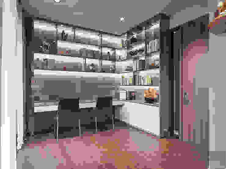 THIẾT KẾ BIỆT THỰ PALM CITY – Nét đẹp giao hòa trong không gian sống hiện đại Phòng học/văn phòng phong cách hiện đại bởi ICON INTERIOR Hiện đại