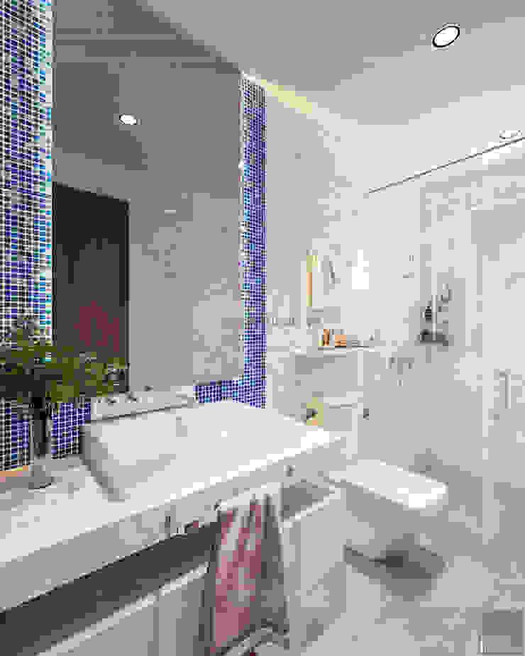 THIẾT KẾ BIỆT THỰ PALM CITY – Nét đẹp giao hòa trong không gian sống hiện đại Phòng tắm phong cách hiện đại bởi ICON INTERIOR Hiện đại
