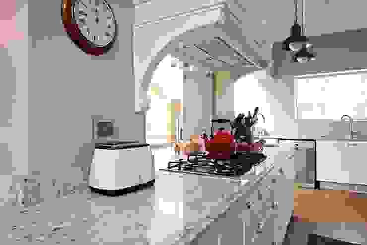 White Granite top kitchen island Oksijen Built-in kitchens White