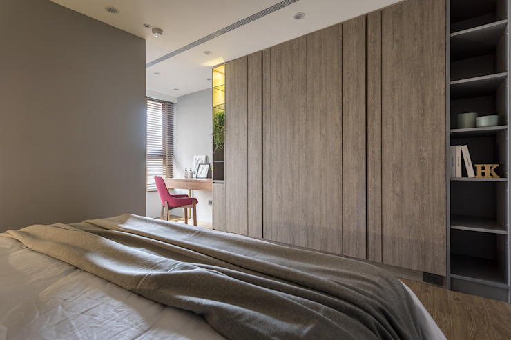 Moderne Schlafzimmer von 合觀設計 Modern