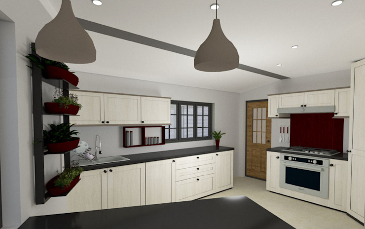 Built-in kitchens by A4AC Architects,