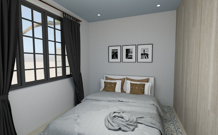 New Master Bedroom:  Bedroom by A4AC Architects, Modern Bricks
