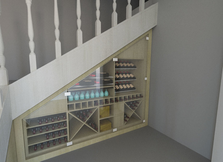 New Stairs Storage:  Stairs by A4AC Architects