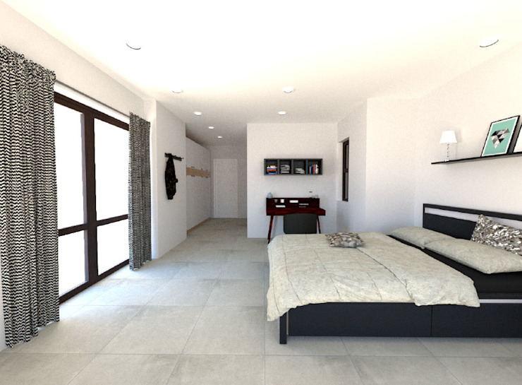 New Additional Bedroom Modern style bedroom by A4AC Architects Modern Tiles