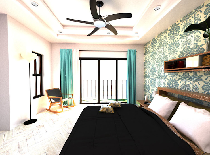 New Main Bedroom Modern style bedroom by A4AC Architects Modern Wood Wood effect