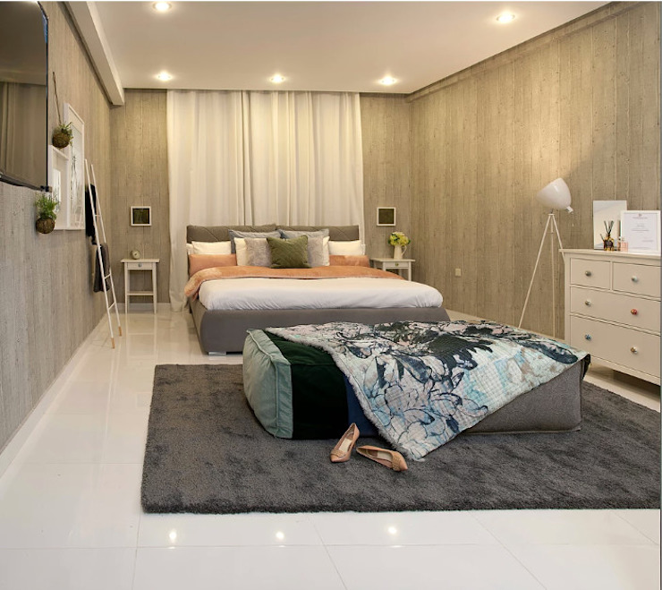 The Grey Bedroom Eclectic style bedroom by Aorta the heart of art Eclectic