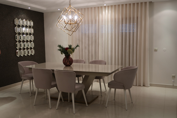Sala de jantar sofisticada Alma Braguesa Furniture Salas de jantar modernas MDF Bege