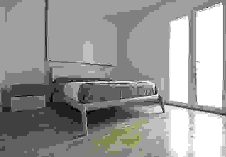 Bedroom Camera da letto minimalista di Domenico Architetto Moschetto Minimalista Legno Effetto legno