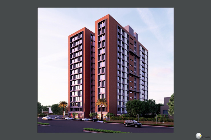 Exterior 3D Still Rendering - Commercial Projects by MI Studio LLP Asian