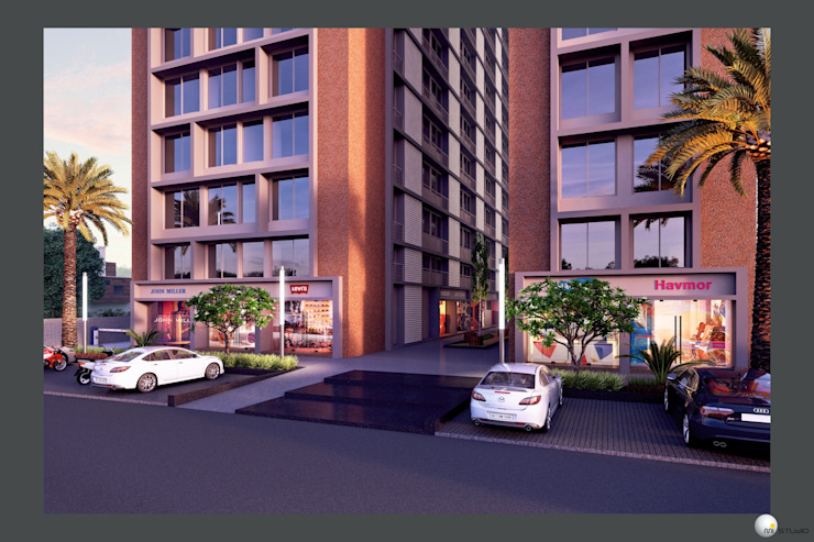 Exterior 3D Still Rendering—Commercial Projects by MI Studio LLP Asian