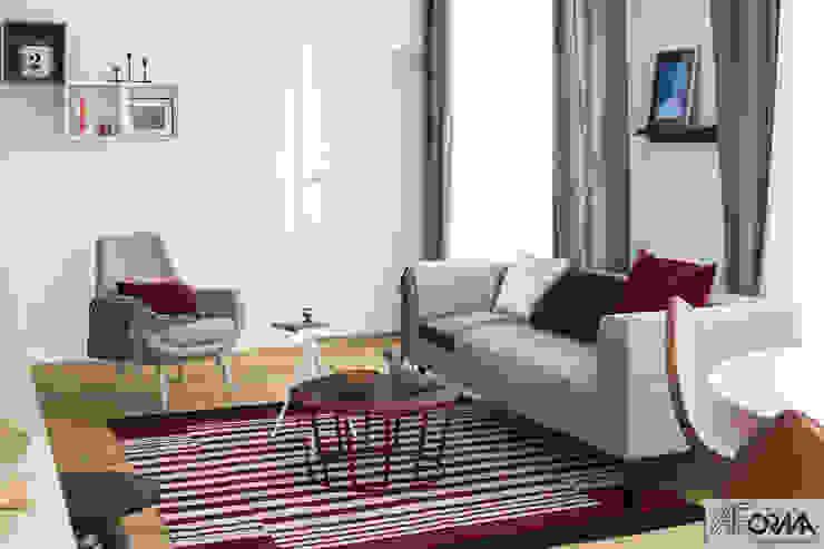 AFormA Architektura wnętrz Anna Fodemska Modern Living Room