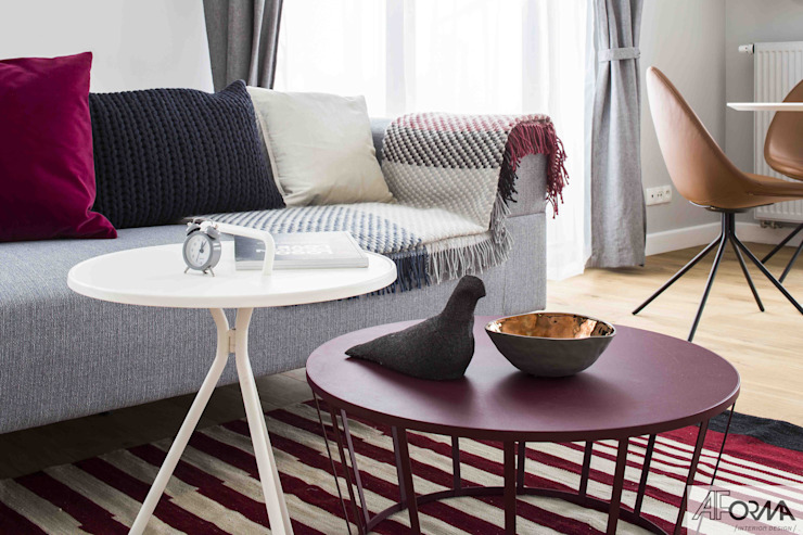 Modern living room by AFormA Architektura wnętrz Anna Fodemska Modern