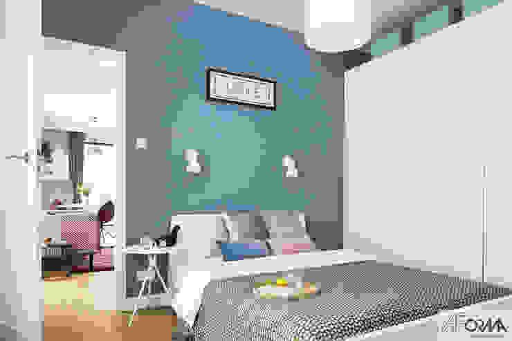 AFormA Architektura wnętrz Anna Fodemska Modern Bedroom