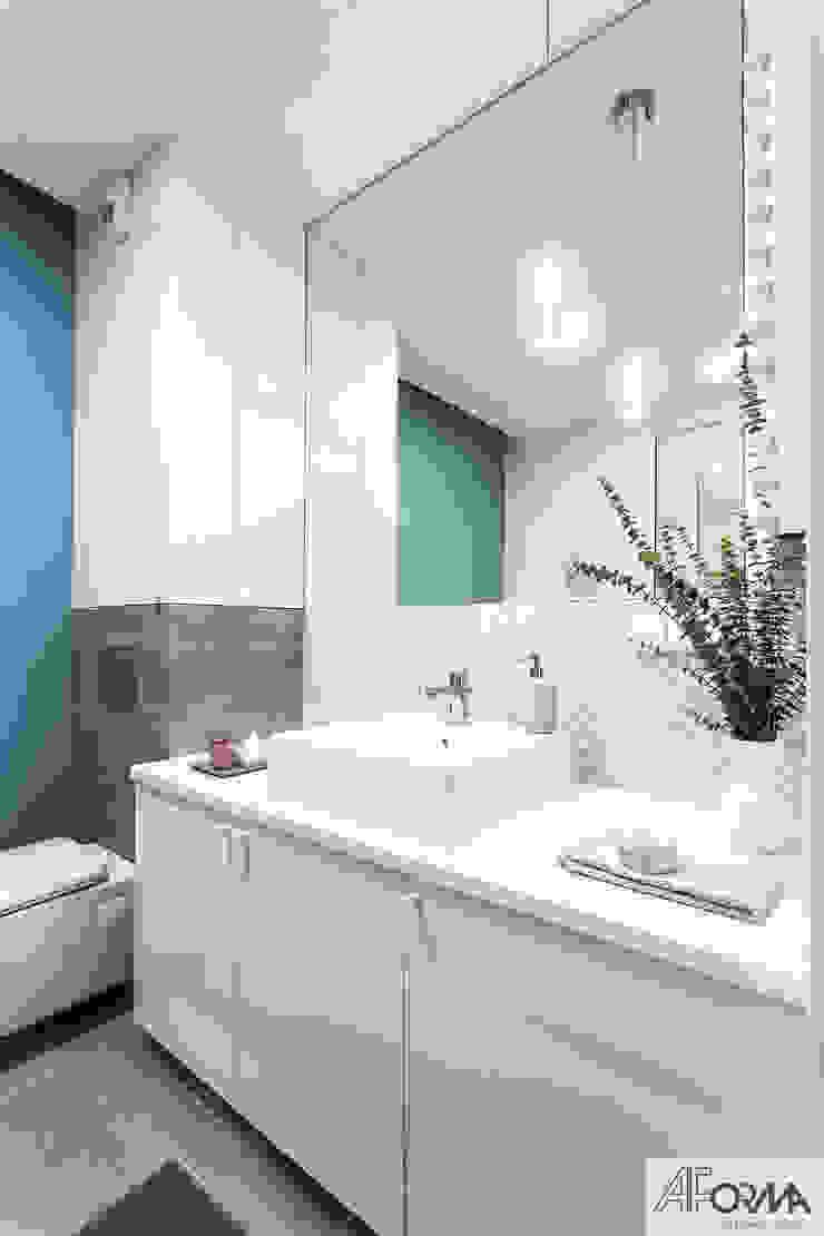 AFormA Architektura wnętrz Anna Fodemska Modern Bathroom