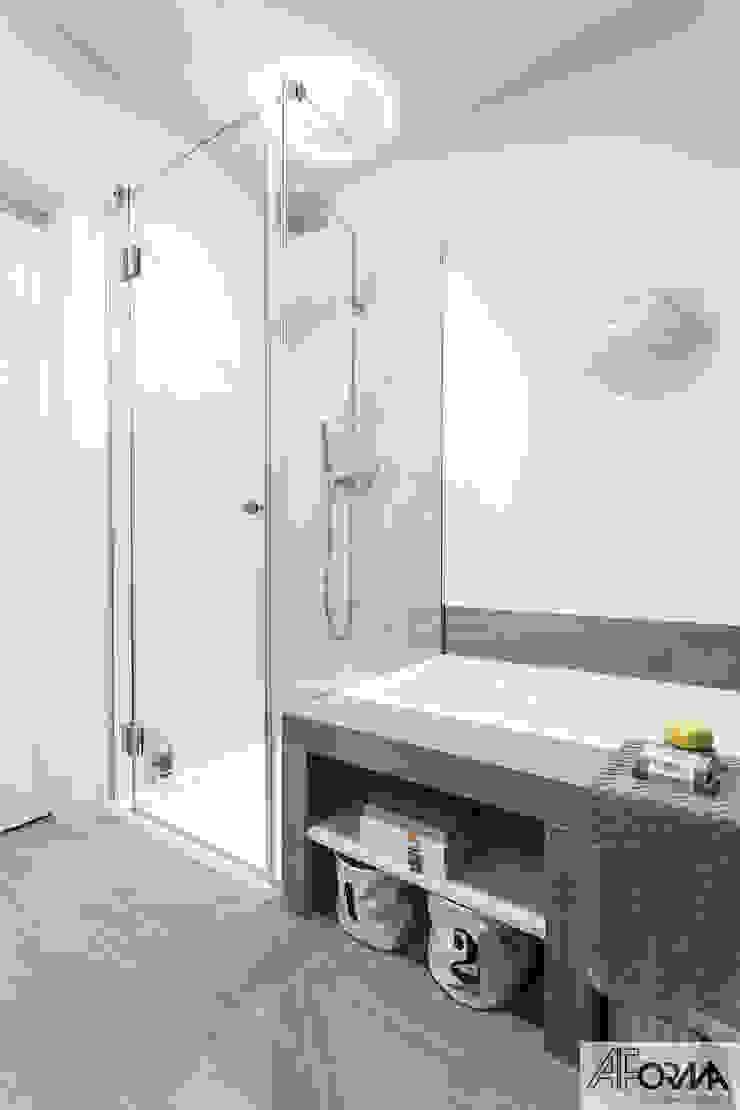 Modern bathroom by AFormA Architektura wnętrz Anna Fodemska Modern