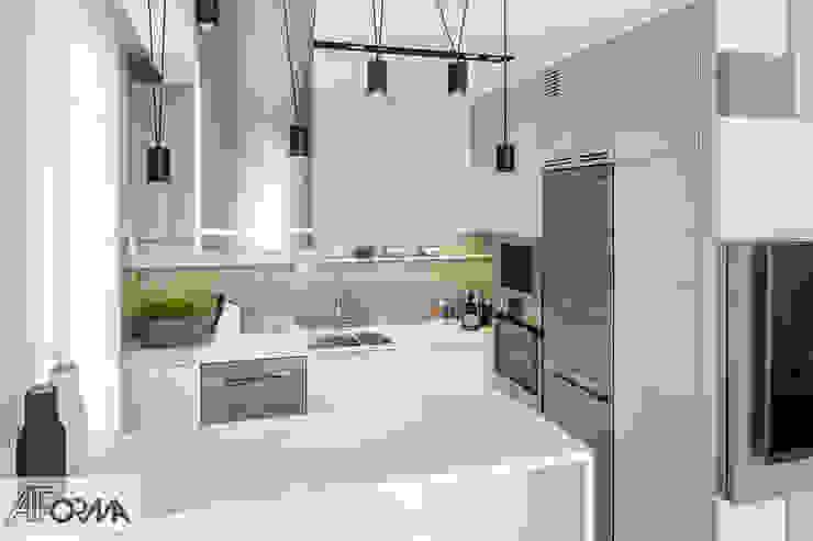 modern apartament in grey AFormA Architektura wnętrz Anna Fodemska Built-in kitchens