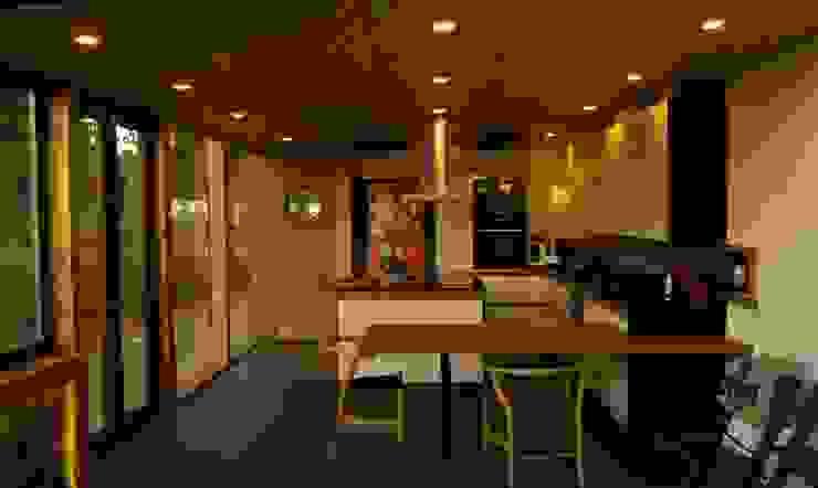 Cocina y comedor de diario homify Cocinas equipadas Derivados de madera Acabado en madera