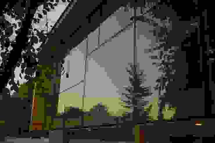 Reflejos Puertas y ventanas modernas de PhilippeGameArquitectos Moderno Vidrio