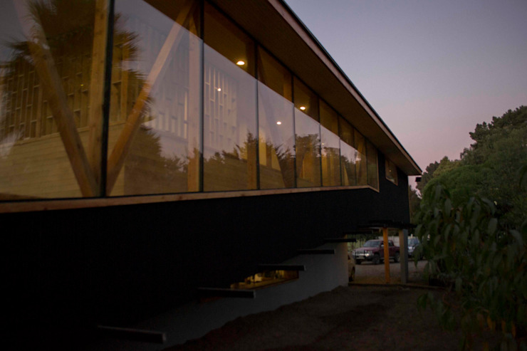 Vista rampa al sur Casas estilo moderno: ideas, arquitectura e imágenes de PhilippeGameArquitectos Moderno Concreto reforzado