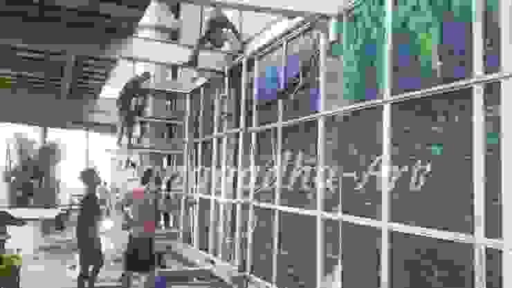 Pemasangan Rangka Oleh Tukang Taman Surabaya - Tianggadha-art Modern Aluminium/Seng