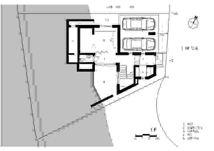 1층 평면도: 건축사사무소  CSU의 컨트리 ,컨트리